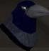 Raven (blue) chathead