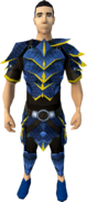 Blue dragonhide armour (g) (male) equipped