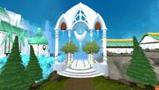 Prifddinas portão principal