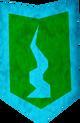 Rune kiteshield (Guthix, heraldic) detail