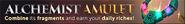 Alchemist's amulet lobby banner
