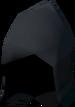 Black wizard hat detail