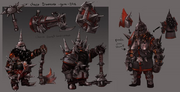 Chaos dwarves concept art