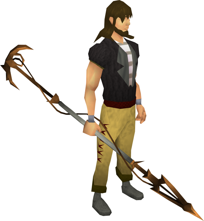 Corrupt dragon spear equipped
