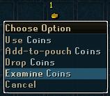 Examine coins