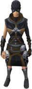 Executioner outfit equipped (female)