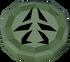 Green charm detail