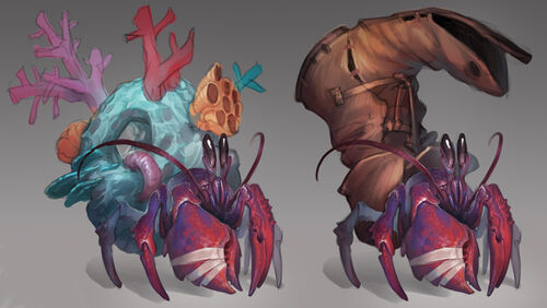 Hermit crab concept art