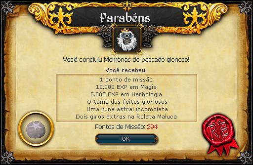 Memórias do passado glorioso recompensas