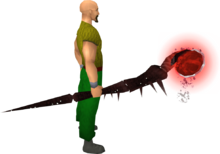 Noxious staff (blood) equipped
