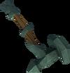 Off-hand adamant warhammer detail
