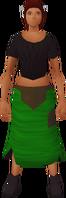 Retro tattered skirt