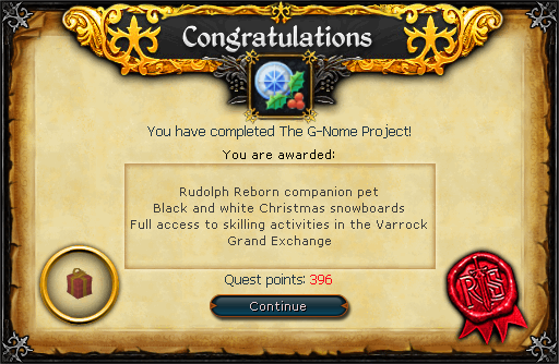 The G-Nome Project reward