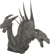 Basic King Black Dragon statue