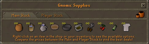 Gnomic Supplies