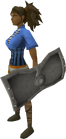 Iron sq shield equipped