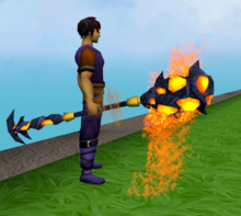 Staff of limitless lava equipped