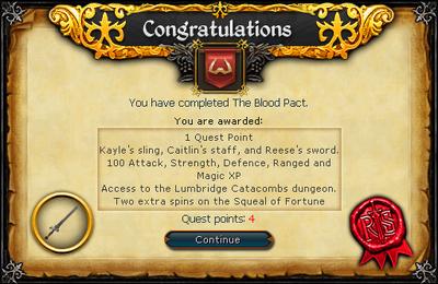 The Blood Pact Reward Scroll