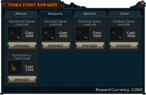 Tuska Event Rewards (Weapons)