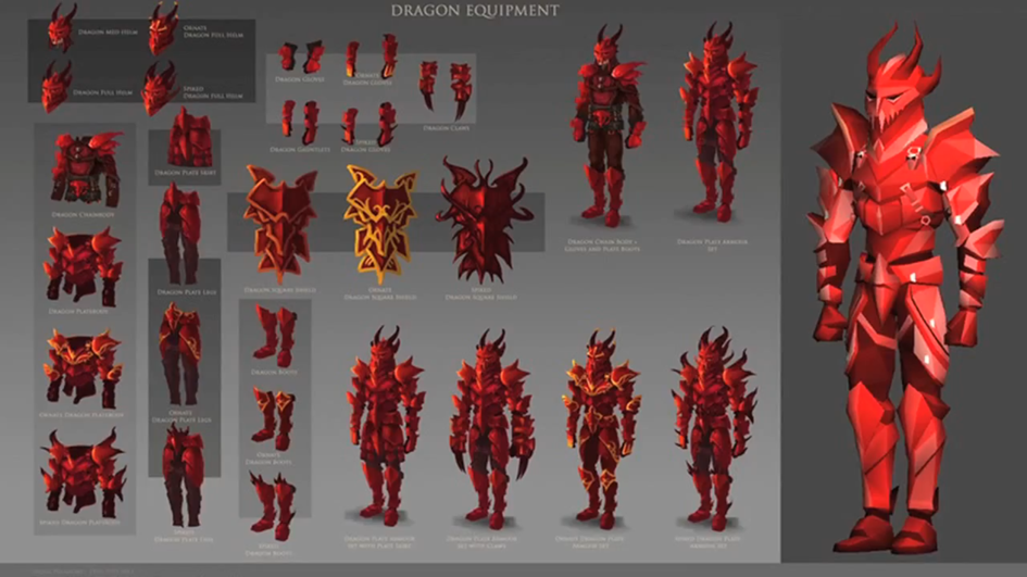 Graphically updated Dragon armour and claws & Dragon equipment | RuneScape Wiki | FANDOM powered by Wikia