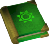 Mages' book (green) detail