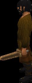 Off-hand bronze sword equipped