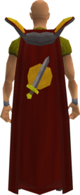 Retro attack cape equipped