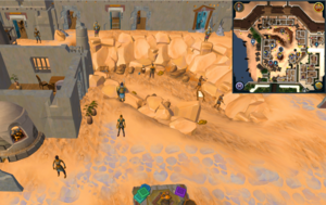 Scan clue Menaphos Worker district south-west of the concentrated sandstone rocks