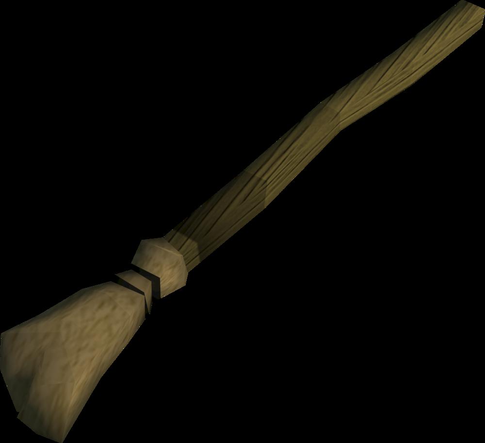 Tattered old broom detail