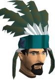 Feather headdress (stripy) chathead