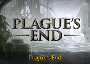 Plague's End lobby banner