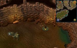 Scan clue Fremennik Slayer Dungeon east side of aquanite chamber