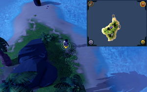 Scan clue Turtles third island between the portals