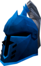 Steel heraldic helm (Saradomin) detail