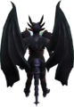 Attuned King Black Dragon wings equipped.png