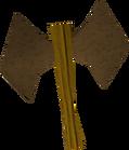 Bronze thrownaxe detail old
