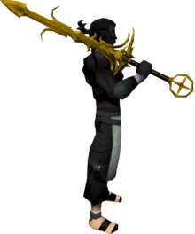 Golden Saradomin godsword equipped
