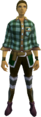Green checkered shirt equipped.png