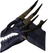 King black dragon head detail