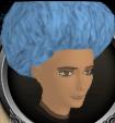 Light blue afro chathead