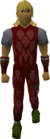 Red dragonhide armour equipped old