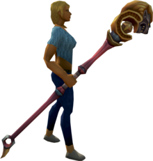 Second-Age staff equipped