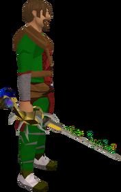 Serpentine rapier equipped