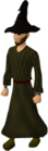 Black wizard robes equipped old