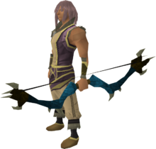 Dark bow (blue) equipped