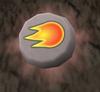 Glowing fire rune detail