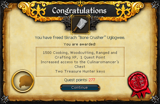 Recipe for Disaster (Freeing Skrach Uglogwee) reward
