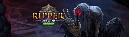Ripper Demons head banner