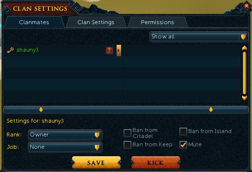 Clan settings news image