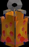 Huge lava lantern detail